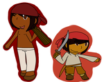 [APH] Baymen!Belize and WoodCutter!Belize by poi-rozen