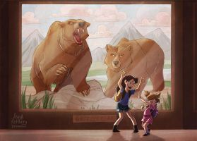 Bear Scare by aerettberg