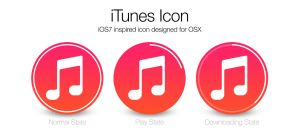 iOS7 iTunes icon for OSX by JonnyBurgon
