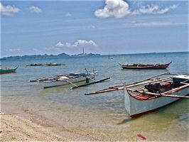 boats in the beach by jycll