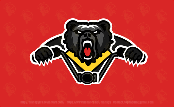 Aggressive Bear on motorcycle Logo by DianaGyms