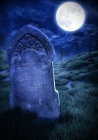 The Lone Tombstone by gateian
