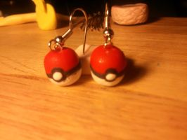 Pokeball Earrings by UntouchedRayne