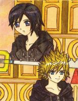 Roxas and Xion: Treasured moments by dagga19
