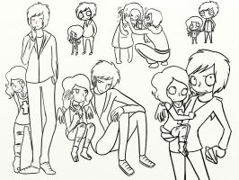 Haley and Juan doodle dump by WrongCog