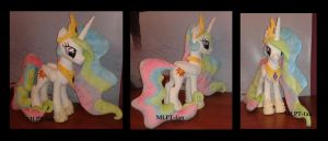 Princess Celestia with removable regalia by MLPT-fan