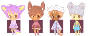 200 Watchers Set - Adoptable Boys FREE (closed) by ribbon-adopts