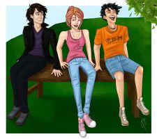 Nico, Lea, and Percy commission by blindbandit5