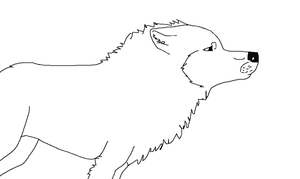 MS Paint Wolf by Sydnohorse