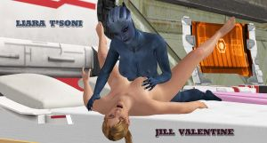 Liara-Jill   INTER-SPECIES-LOVE 2 by blw7920