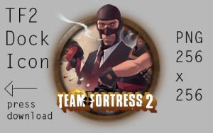 Team Fortress 2 Dock Icon by p2pnadie2pp