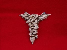 Antler Flying Dragon Pendant by ZachariahBusch