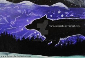 Wolf painting by TheKarelia