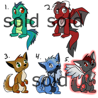 Adoptables: Dragons and Canines -OPEN- by JamAdopts