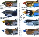 Curtiss P-40 personal nose arts 2 by Alan-the-leopard