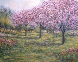 Pink Orchards Garden by Landscapist