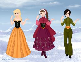 Frozen Style Phyllis, Windy, and Narnia by FluidGirl82