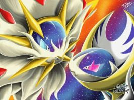 Solgaleo Lunaala Pokemon Sun Pokemon Moon