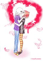 Espectre and Ruby's kiss by VersusVII