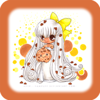 """Coloring:  """"Chibi Cookie"""" by almyki"""