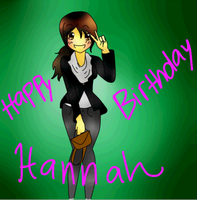 My birthday present to my friend Hannah by bunnybacon