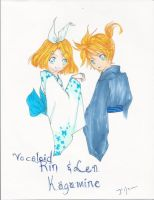 Rin and Len by Ms-Catastrophie