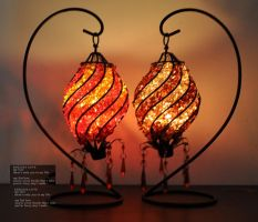 Aleck bead romantic classical candlestick by timememory