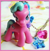 Pink My Little Pony Necklace by cherryboop