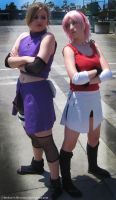 AX 2011 Sakura vs Ino by broken-with-roses