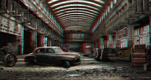 Abandoned Car Workshop 3-D conversion by MVRamsey