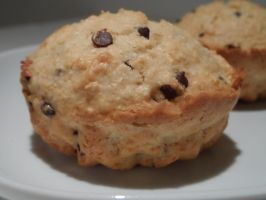 Muffins with coconut and chocolate chips by kivrin82