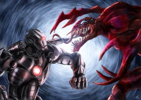 war machine vs carnage by alecyl