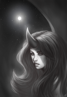 The Moon - Gift art for Tala by Alexandoria