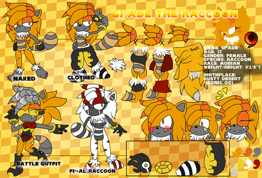 Spade the Raccoon Ref and Bio by Vertakin