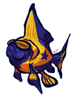 Booster Gold Fish by NightmareHound