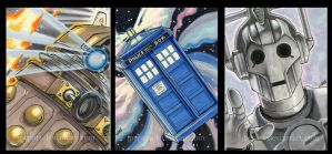 3 Dr Who ACEOs by JPepArt