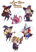 Little Witch Stickers by Kauritsuo