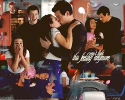Rachel and Finn Wallpaper by paucie