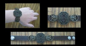 Custom Steampunk Wristband by JustifiedTaboo