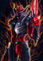 kamen rider ryuki dragon rage by DamnWing