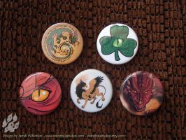 Fantasy Creature Pinback Buttons by Nightlyre
