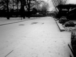 snowy street by Evanescent-beauty