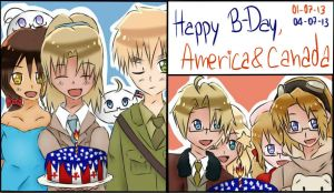 APH - Happy B-Day America and Canada! by Mizuka-san