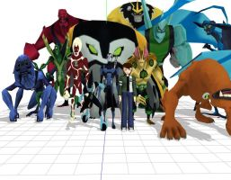 Ben 10 aliens (NEED RIGGING!) by ultimate44
