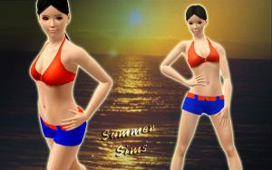 Wallpaper Summer Sims by RainboWxMikA