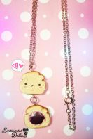 Kawaii Squishy Inspired Bread Slice Necklace Charm by SentimentalDolliez
