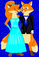 Ballroom Foxes by TomTheFox
