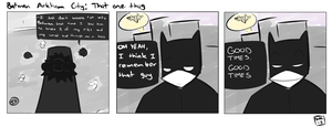 Batman Arkham City: That one thug by WaywardDoodles