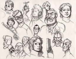Face doodles by RobtheDoodler