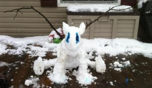 Snow Gargoyle by Uponbatishwings
